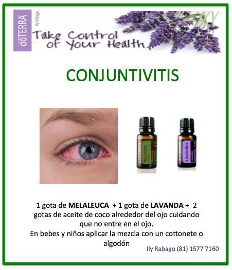 Poner alrededor de los ojos cuidando de que no entre en el ojo. Conjuntivitis