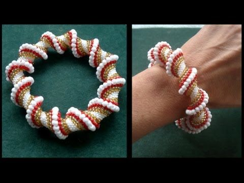 Beading4perfectionists : Cellini spiral done with regular and miyuki seedbeads beading tutorial