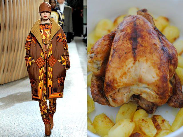 Hermes fw 2011-12 / Roasted chicken with potatoes