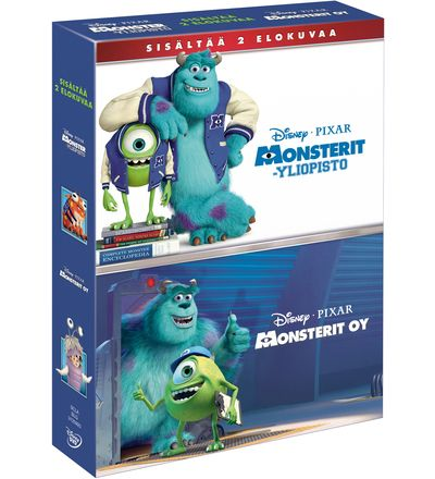 Disney Monsterit yliopisto & Monsterit Oy DVD-boksi   Karkkainen.com verkkokauppa
