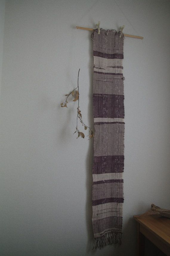cat poems : handwoven scarf / silk by gakumoandoseera on Etsy