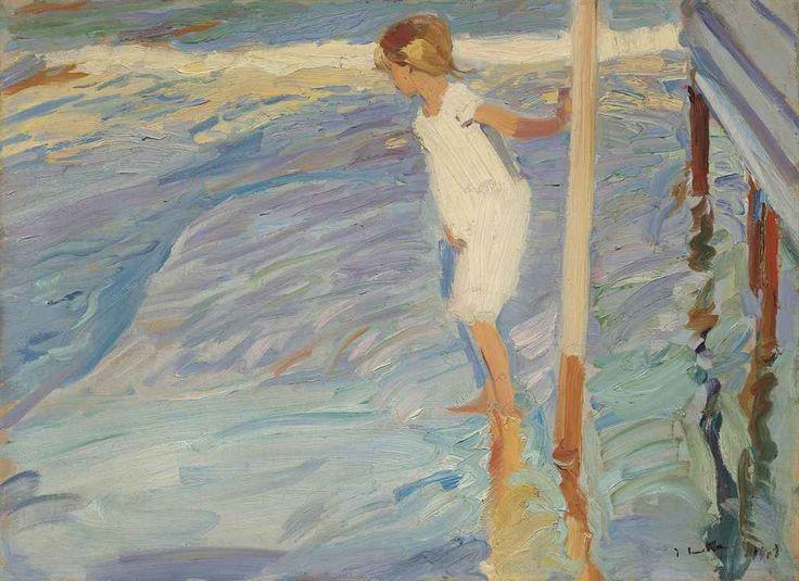 blastedheath: Joaquín Sorolla (Spanish, 1863-1923), Miedo al agua [Fear of water], 1909. Oil on canvas, 52 x 71 cm.