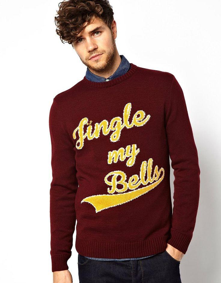 River island christmas jumper with jingle my bells slogan
