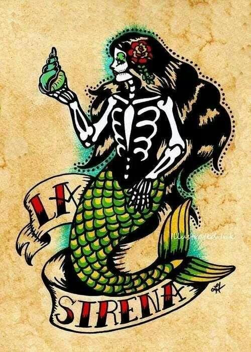 <3 mine #skeleton #mermaid