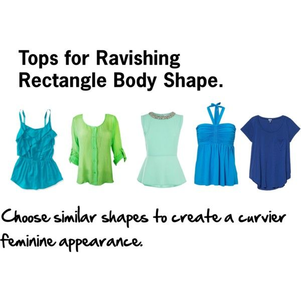 """""""Rectangle Body Shape Tops"""" by rayne-style on Polyvore"""