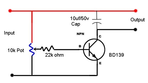 0 to 12 Volt Variable Power Supply Using BD139 Transistor