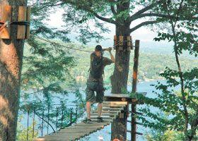 Arbraska Duchesnay - Parcours (tree canopy courses)