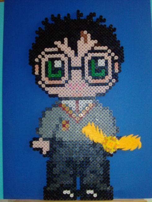 Harry Potter hama perler beads by Tania E.: Potter Hama, Beads Design, Plastic Canvas, Fused Beads, Perler Beads, Crosses Stitches, Hama Beads, Harry Potter, Beads Harry