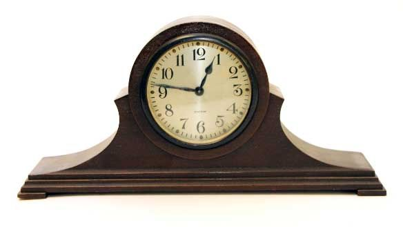 Brown mantel clock