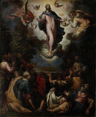 Attributed to Antonio Vassilacchi (Italian, 1556-1629) The Transfiguration unframed