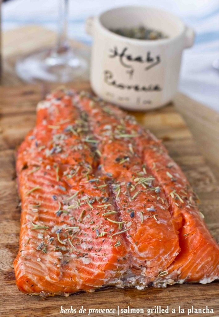 This is the most delicious way to grill salmon- with a super easy homemade herbs de provence grilling salt!