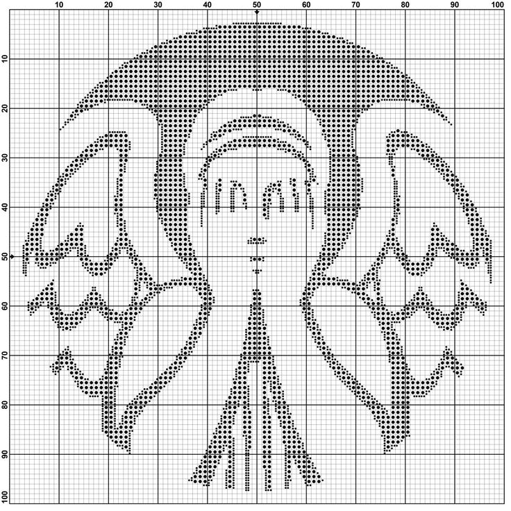 Weeping Angel (Starbucks) Cross Stitch Pattern