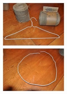 So much cheaper and way easy to make that burlap wreath! Saves you quite a bit of money on your wreath.The wire wreath forms cost about $10 a wire hanger can be $1 or less