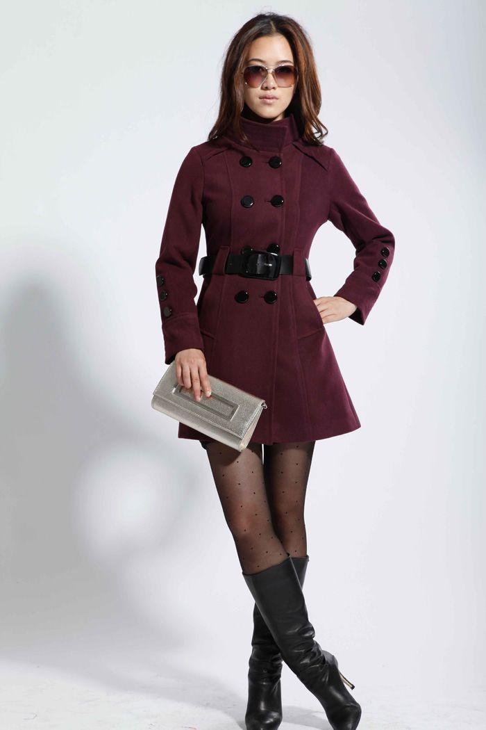 2014 nuove donne Arrivel delle lane di inverno del cappotto della tuta sportiva di modo femminile di vendita caldo cappotto di cachemire cinghia gratuita 5 colori-inWool & miscele da Abbigliamento e accessori su Aliexpress.com | Alibaba Group