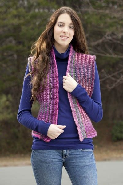 Poetry in Motion Vest Free Knitting Pattern