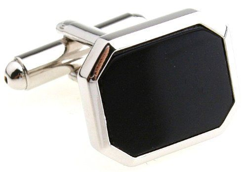 """Silver Black Cufflinks Cuff Links DGW Cufflinks. $33.88. Comes packaged in a Limited Edition Collectors Storage Box!. Silver Black Cufflinks Cuff Links. Rhodium plated base metal. Free Gift Wrapping with each order!. Approximately 3/4"""" in diameter. Save 32%!"""