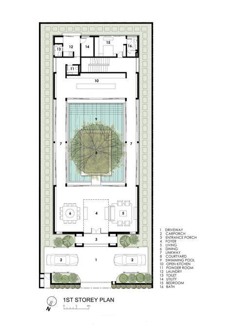 Architecture Design Plans 61 best courtyard houses / plans images on pinterest