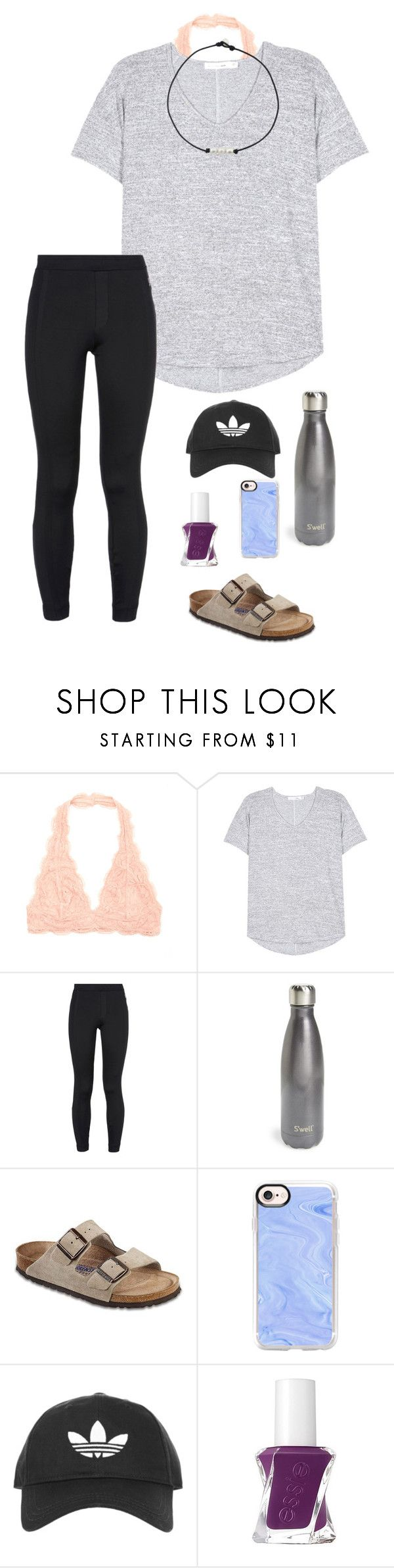"""""""It's been raining the past week"""" by eadurbala08 ❤ liked on Polyvore featuring rag & bone, NIKE, S'well, Birkenstock, Casetify, Topshop and Essie"""