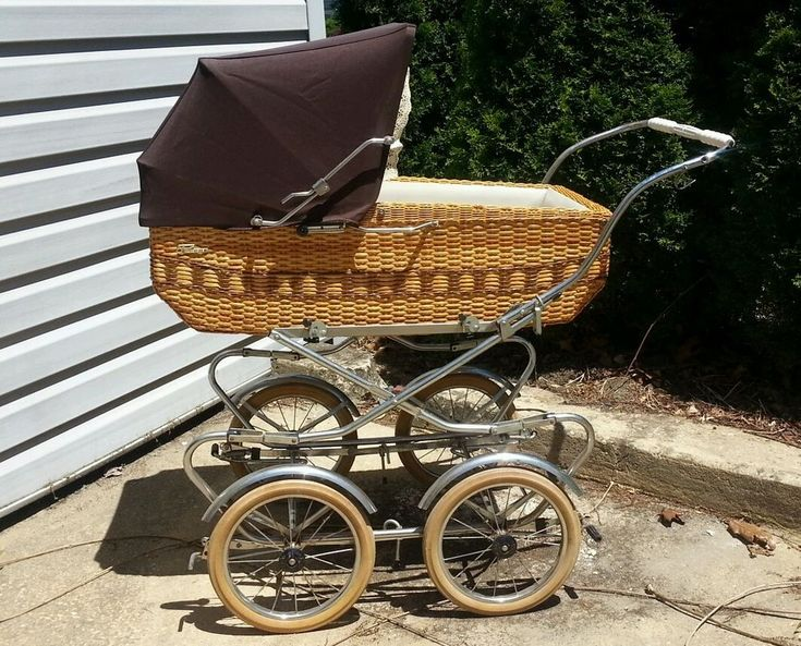 Vintage PEG PEREGO Wicker Coach CARRIAGE Made in Milano Italy   #Perego