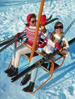 vintage skiers in aspen #monogramsvacation
