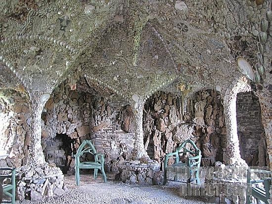 Pontypool shell grotto designed in 1784  by Molly Anne Meirs  restored in 1990's