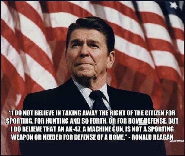 Shooting Ban Colorado: In 1994 Reagan Was A Co-signatory (along With Former