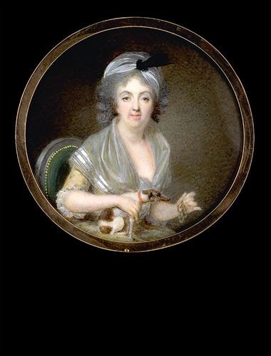 Claude Bornet, Lady in a Green Armchair circa 1790