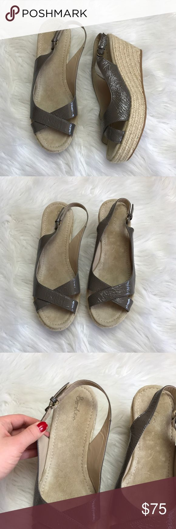 Nwob boden espadrille wedged sandals Size 10.5 brand new never worn! Inside is super soft! Heel measures at 3 inches high. Boden Shoes Wedges