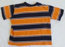 Outdoor Outfitters Boys Orange Blue Striped T-Shirt Size 5/6