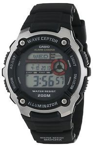 a casio wv200a 1a mens resin band world time multi band atomic watch