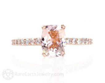 Kussen wit Sapphire Engagement Ring diamant witte door RareEarth