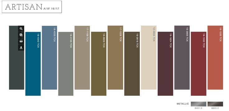 16 17 Artisan Palette Color Craze Pinterest Pantone