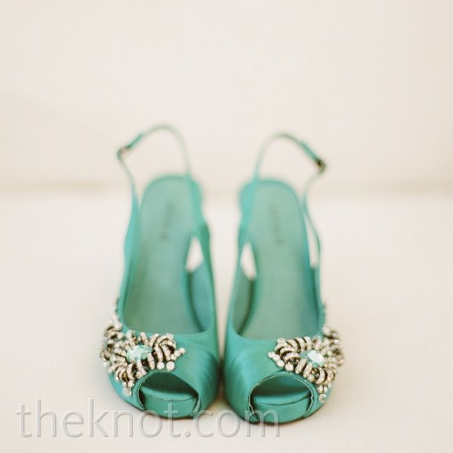 Aqua Wedding Shoes- This in flats would be perfect!