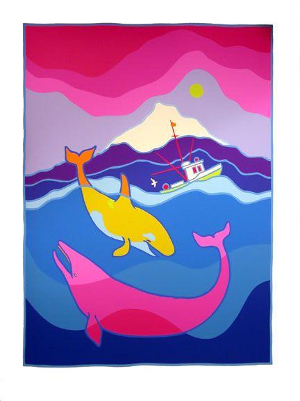 ted harrison artist study WhaleFrolic