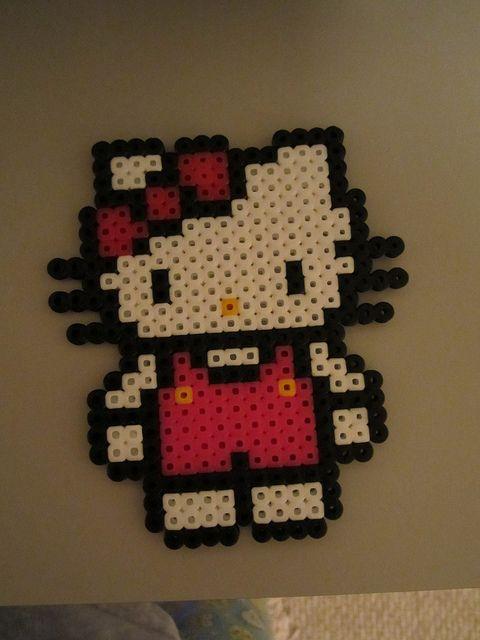 Hello Kitty by perlerbeadcrafts, via Flickr