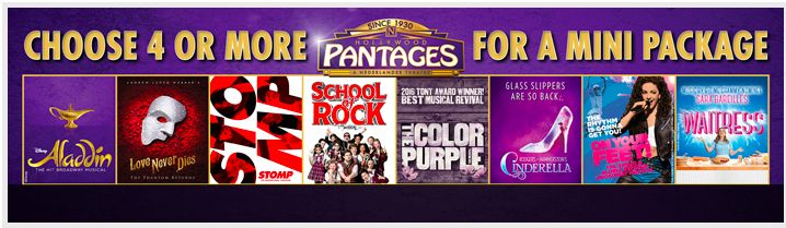 2 tickets per show/Best Available seat (center or left/right orchestra is best)  Aladdin OR Cinderella (or both lol) School of Rock The Color Purple Waitress