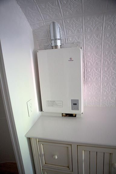 Perfect for a small home! On-demand propane-powered water heater - Eccotemp 40-HI-LP Tankless Water Heater