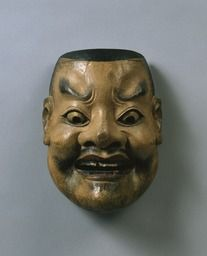 Noh mask, Ōtenjin (a great deity), one of 47 Noh masks formerly owned by Konparu Sōke (the leading family of the Konparu school), Wood, colored Muromachi-Meiji period/15-19th century Originally owned by Konparu-za Tokyo National Museum.