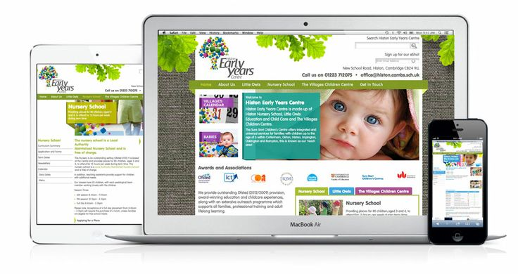 In conjunction with a complete rebranding exercise, a new website was designed and built to be used as the main hub of information for this established Nursery School and Children's Centre. iD listened carefully to governors, teachers and parents and translated their feedback to tick all the boxes to create a colourful and informative website.