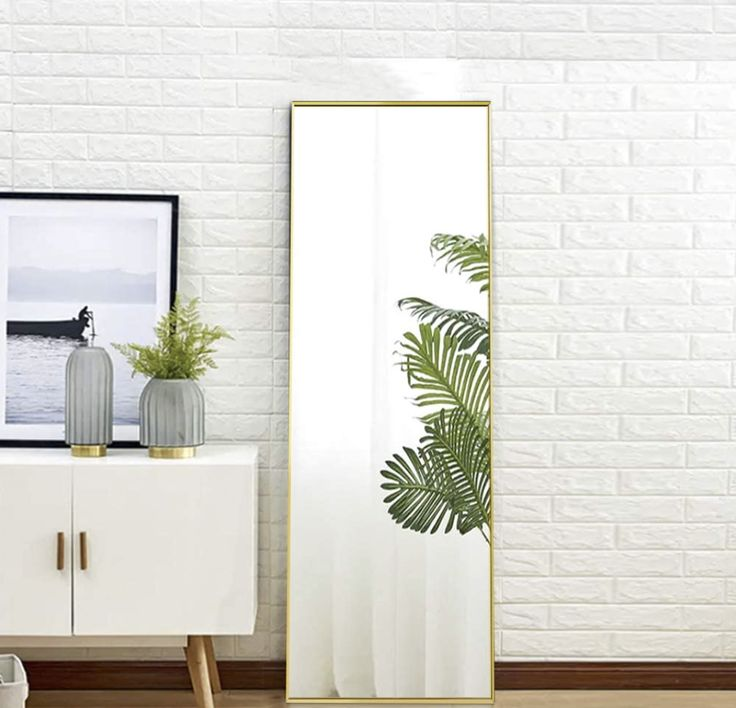 gold full length mirror home depot