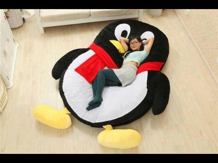 Cool Bed !   Totoro Design Big Sofa lazy bed Beanbag chair smile style