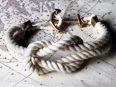 cape knot bracelet | kiel james patrickJames Of Arci, Capes Knots, Anchors Bracelets, Ropes Bracelets, Knots Bracelets, James Patricks, Kiel James, Knots Hitched, Knot Bracelets
