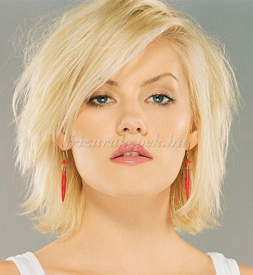 rövid női frizurák - rövid frizura vékony szálú hajból