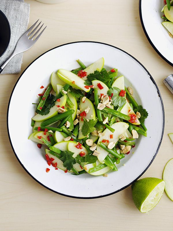 Traditionally this flavour-packed, low-cal Thai salad uses green papaya but it can be hard to find. Swap with apple, like here, instead.