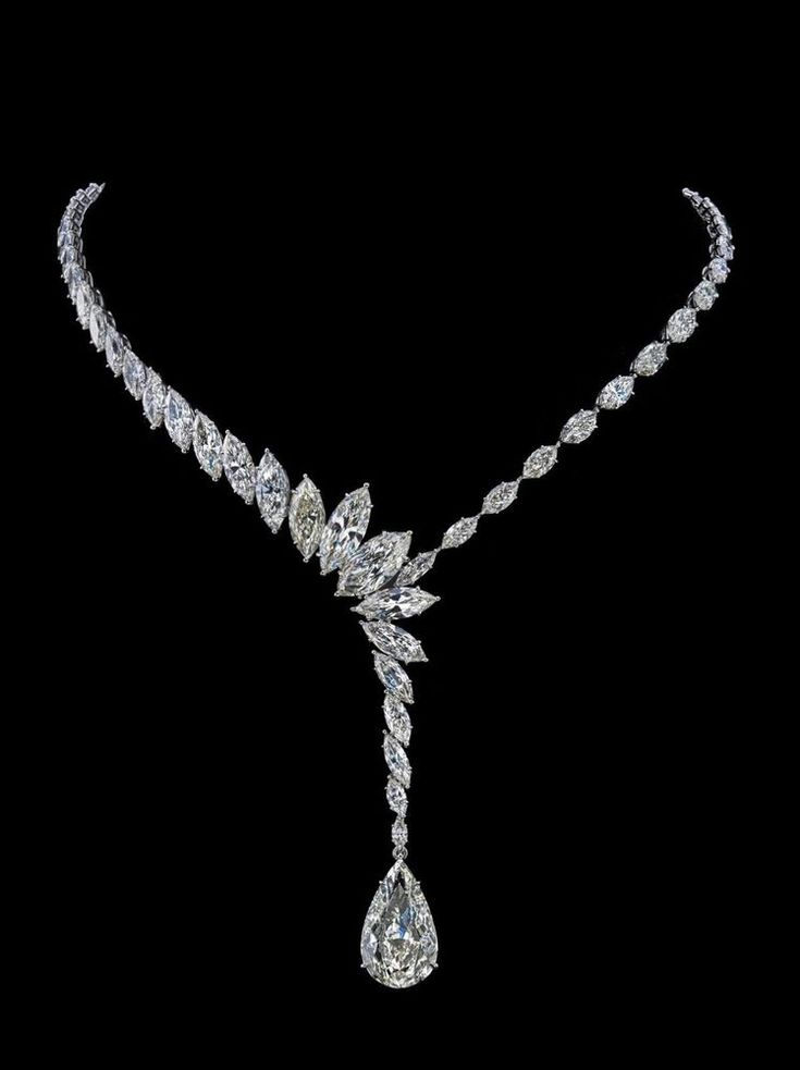 Beautiful Marquise Pear Leaf Collar Necklace Jewelry 925 sterling silver Cz Gift #NikiGems #Collar