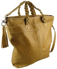 Camel Leather 'Carly' Bag