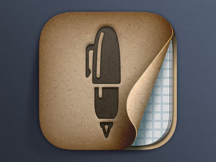 Penultimate App Icon by Carlos Rocafort for Evernote Design