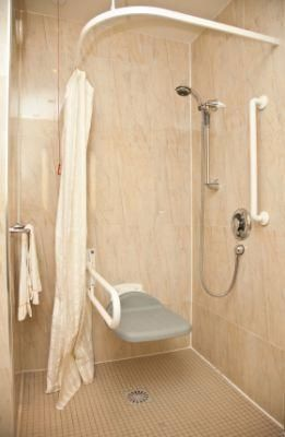 High quality 100% US made handicapped shower enclosures and walk in showers with a 30 year warranty from Best Bath Systems. Offering an ADA shower stall and roll in shower in multiple sizes and 253 colors.