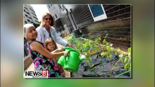 Connecticut Children's Medical Center has a new master gardener in their halls and she has inspired one patient to follow in her footsteps.