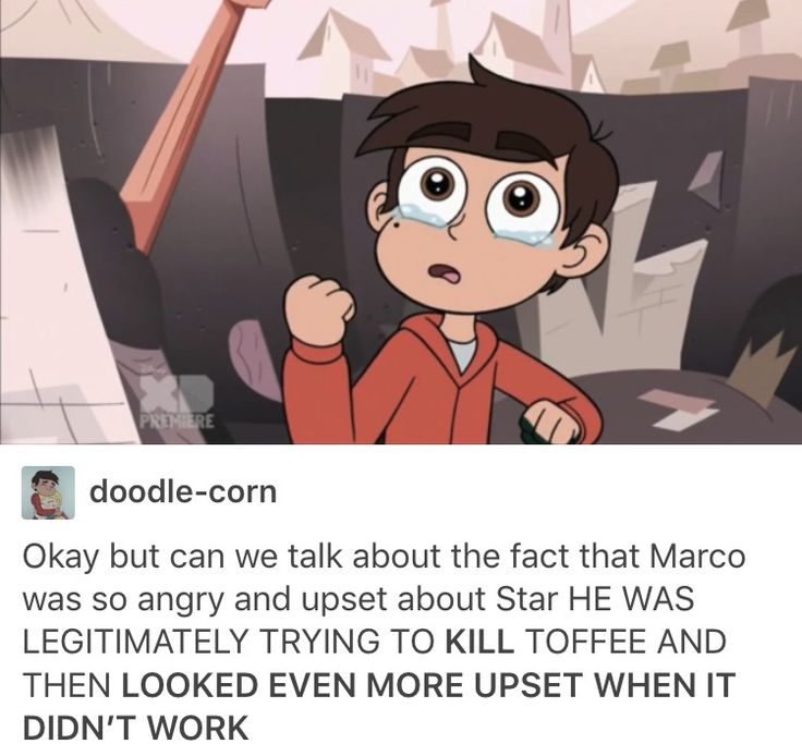 I also love the fact of where he punched toffee right in the heart. Toffee took away Star and thus broke Marco's and it seems to me like he was trying to get revenge